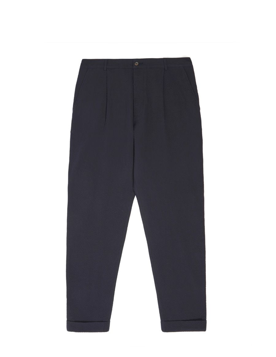 PANT PLEATED NAVY