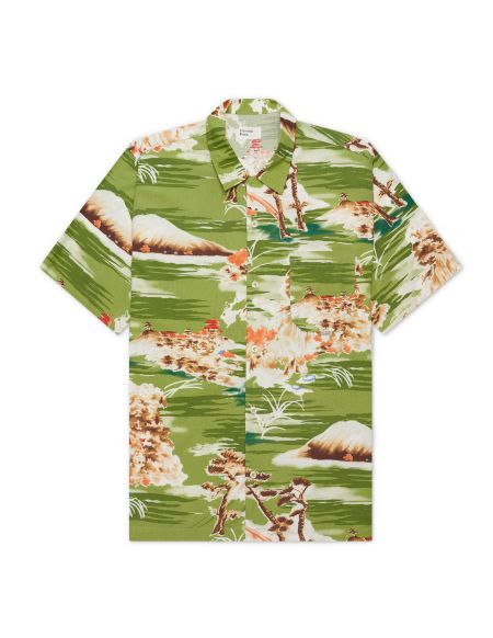 ROAD SHIRT FUJI SUMMER PRINT GREEN